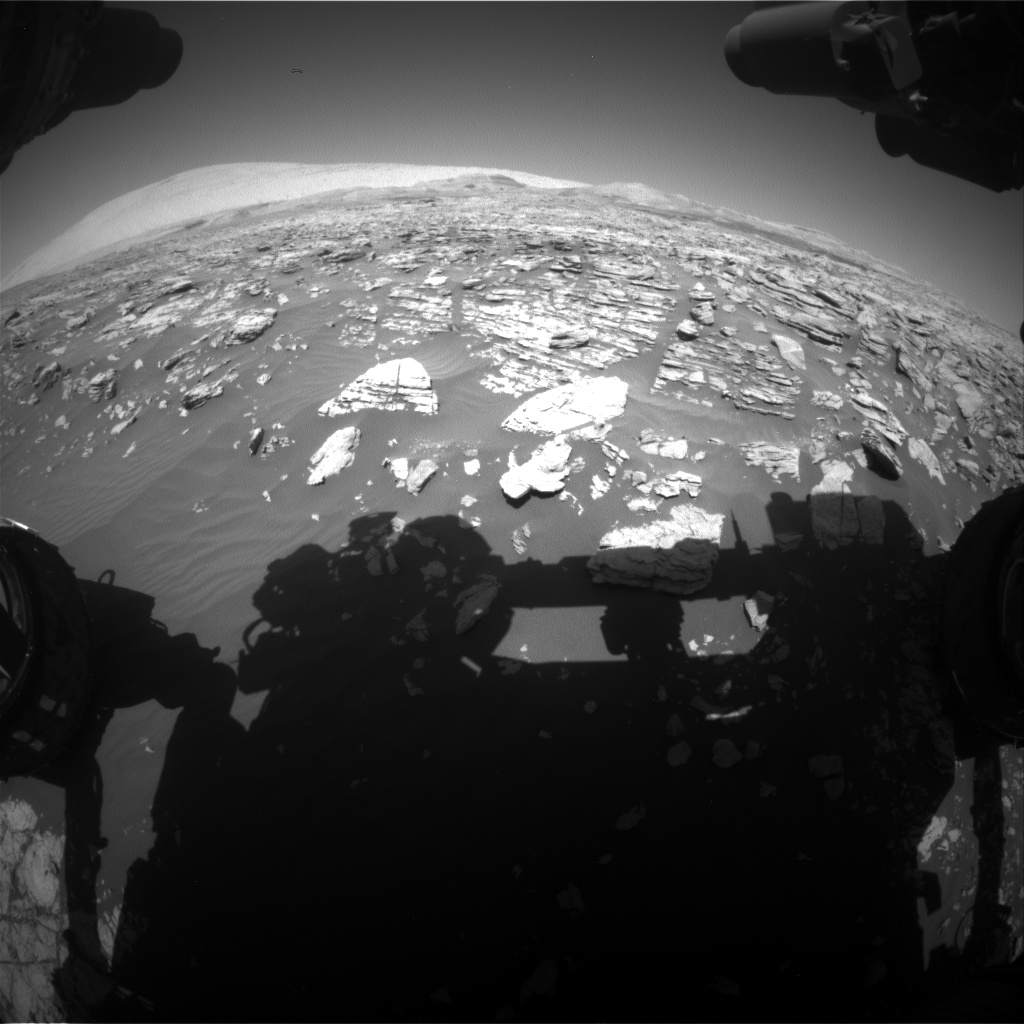 Nasa's Mars rover Curiosity acquired this image using its Front Hazard Avoidance Camera (Front Hazcam) on Sol 1928, at drive 1846, site number 67
