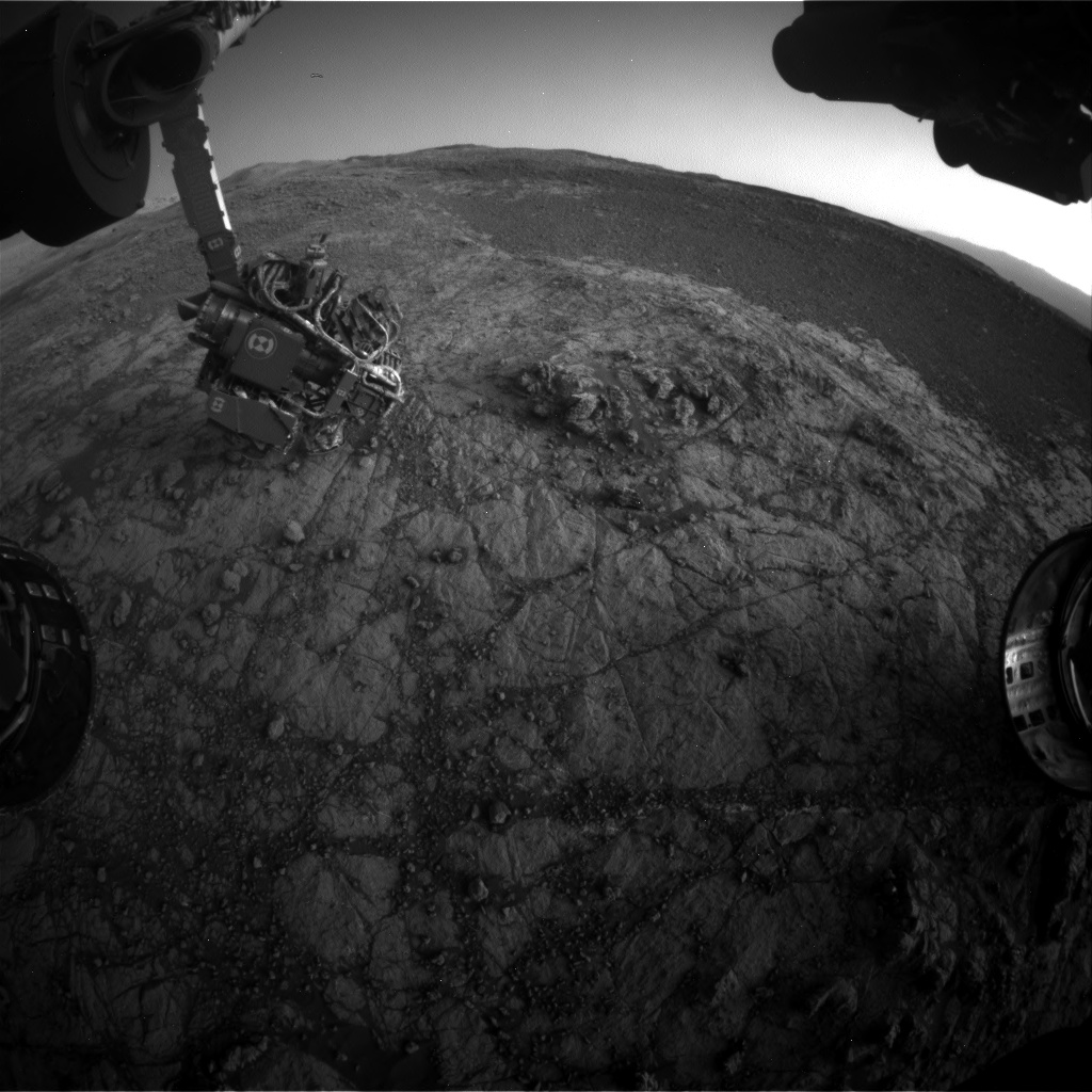 Nasa's Mars rover Curiosity acquired this image using its Front Hazard Avoidance Camera (Front Hazcam) on Sol 1931, at drive 2420, site number 67