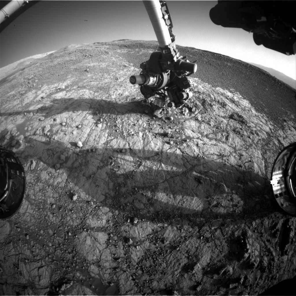 Nasa's Mars rover Curiosity acquired this image using its Front Hazard Avoidance Camera (Front Hazcam) on Sol 1932, at drive 2420, site number 67