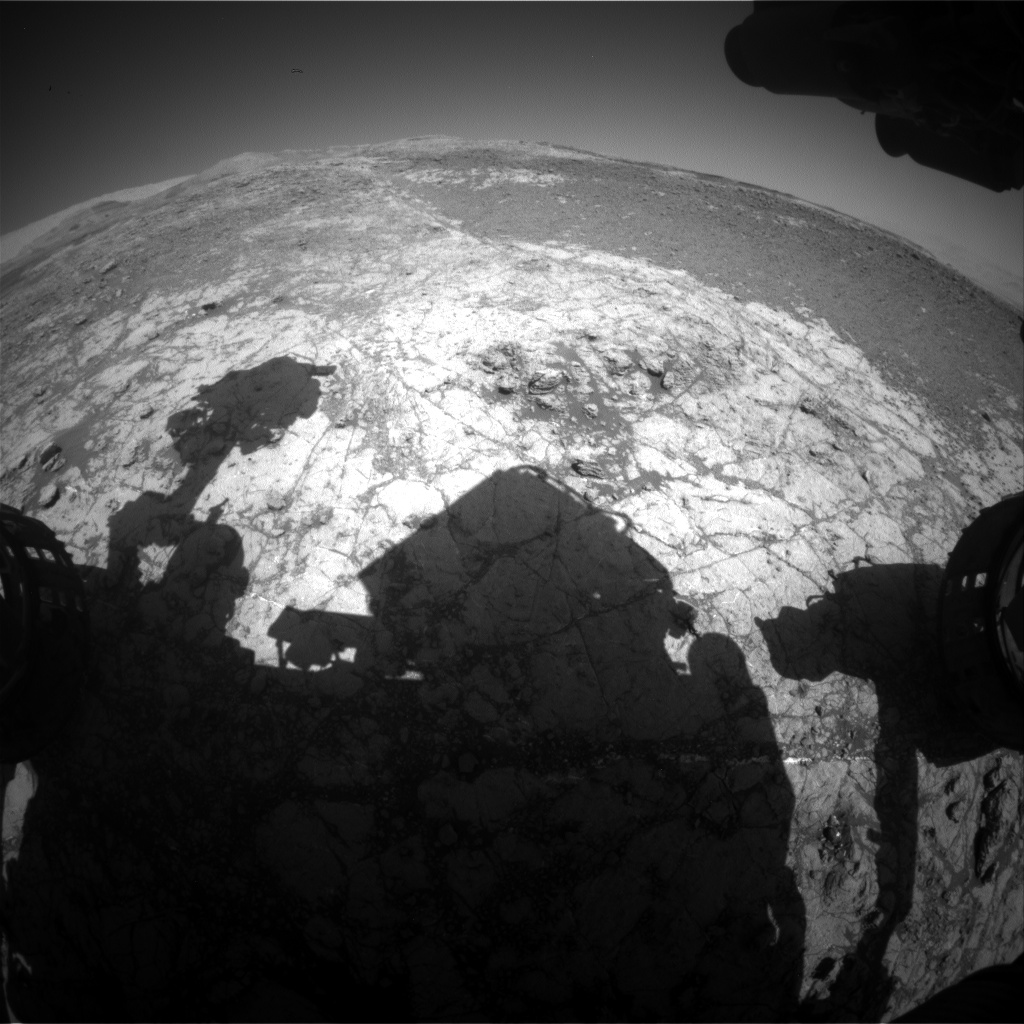 Nasa's Mars rover Curiosity acquired this image using its Front Hazard Avoidance Camera (Front Hazcam) on Sol 1933, at drive 2420, site number 67