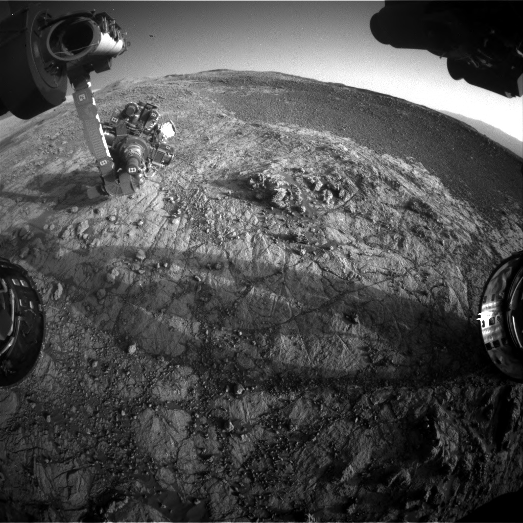 Nasa's Mars rover Curiosity acquired this image using its Front Hazard Avoidance Camera (Front Hazcam) on Sol 1934, at drive 2420, site number 67