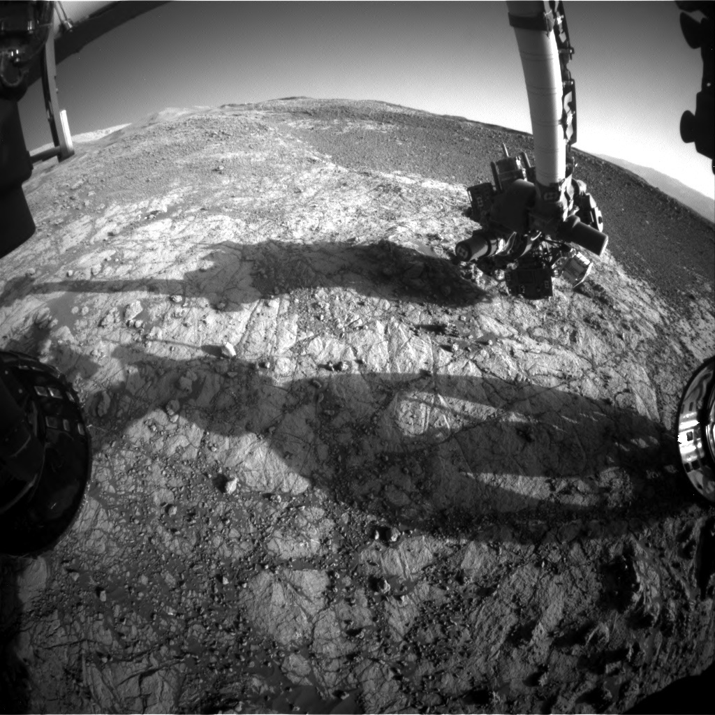 NASA's Mars rover Curiosity acquired this image using its Front Hazard Avoidance Cameras (Front Hazcams) on Sol 1935