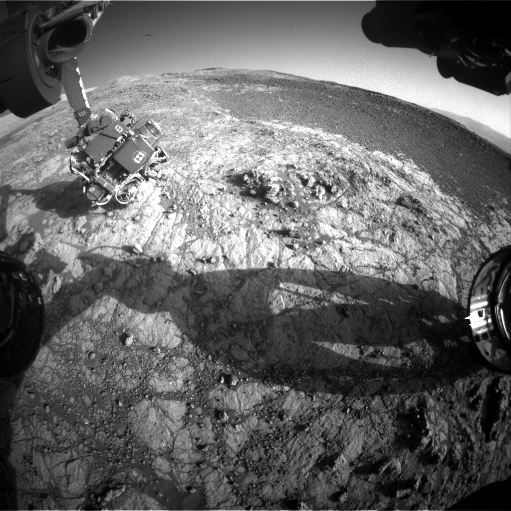 Nasa's Mars rover Curiosity acquired this image using its Front Hazard Avoidance Camera (Front Hazcam) on Sol 1937, at drive 2420, site number 67