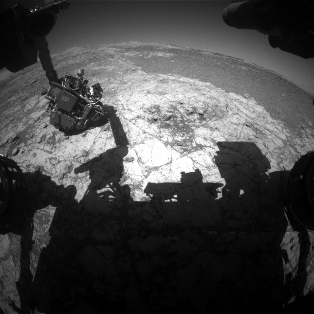 Nasa's Mars rover Curiosity acquired this image using its Front Hazard Avoidance Camera (Front Hazcam) on Sol 1938, at drive 2420, site number 67