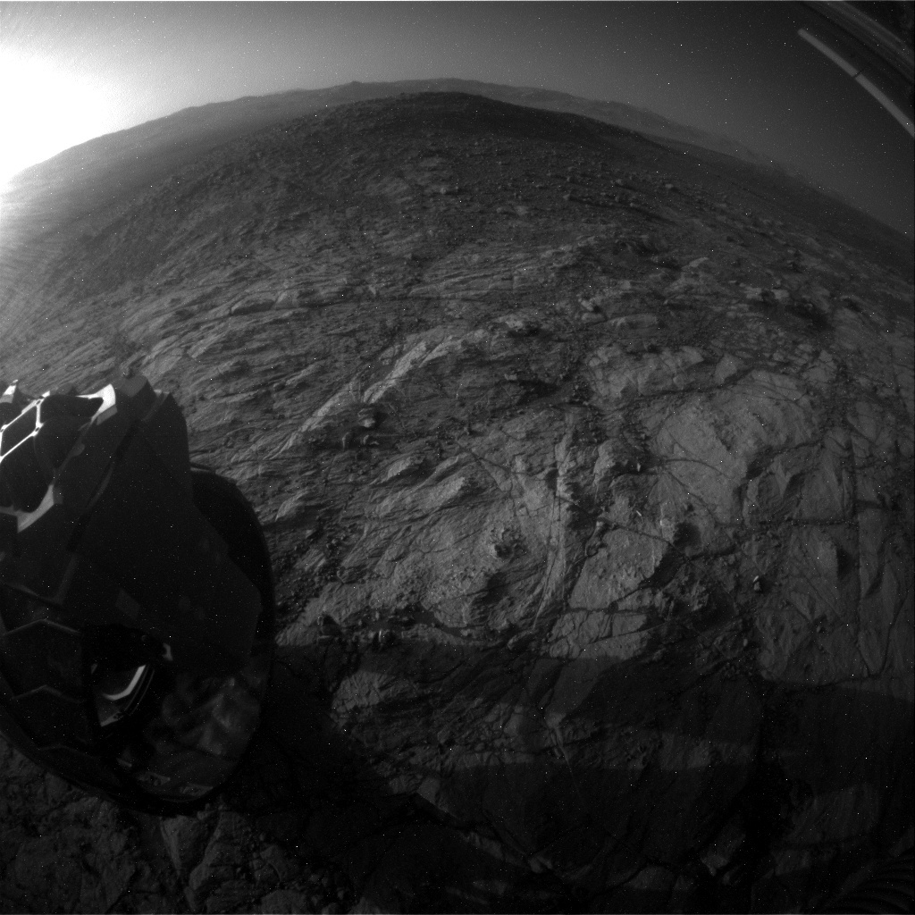 NASA's Mars rover Curiosity acquired this image using its Rear Hazard Avoidance Cameras (Rear Hazcams) on Sol 1938