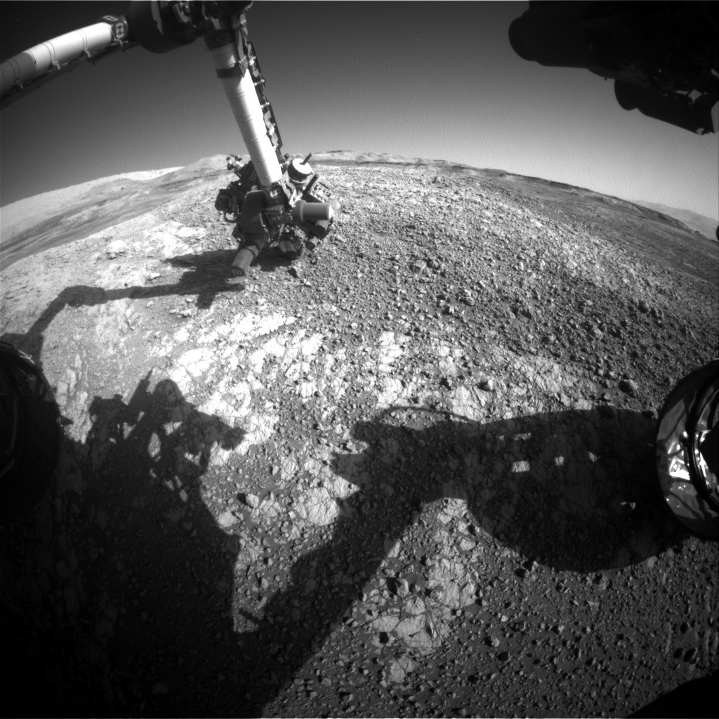 NASA's Mars rover Curiosity acquired this image using its Front Hazard Avoidance Cameras (Front Hazcams) on Sol 1941