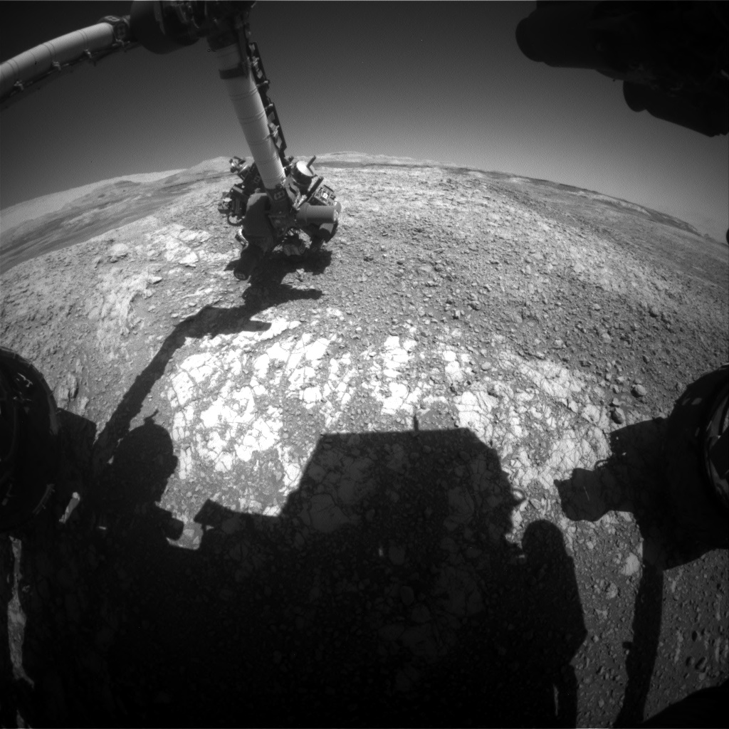 Nasa's Mars rover Curiosity acquired this image using its Front Hazard Avoidance Camera (Front Hazcam) on Sol 1942, at drive 2478, site number 67