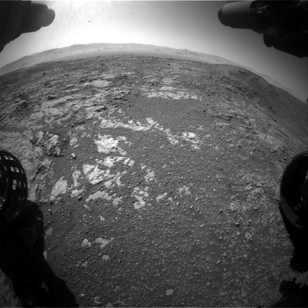 Nasa's Mars rover Curiosity acquired this image using its Front Hazard Avoidance Camera (Front Hazcam) on Sol 1942, at drive 2764, site number 67
