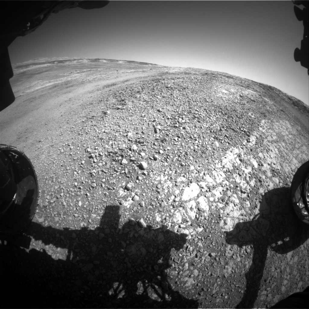 Nasa's Mars rover Curiosity acquired this image using its Front Hazard Avoidance Camera (Front Hazcam) on Sol 1944, at drive 2884, site number 67