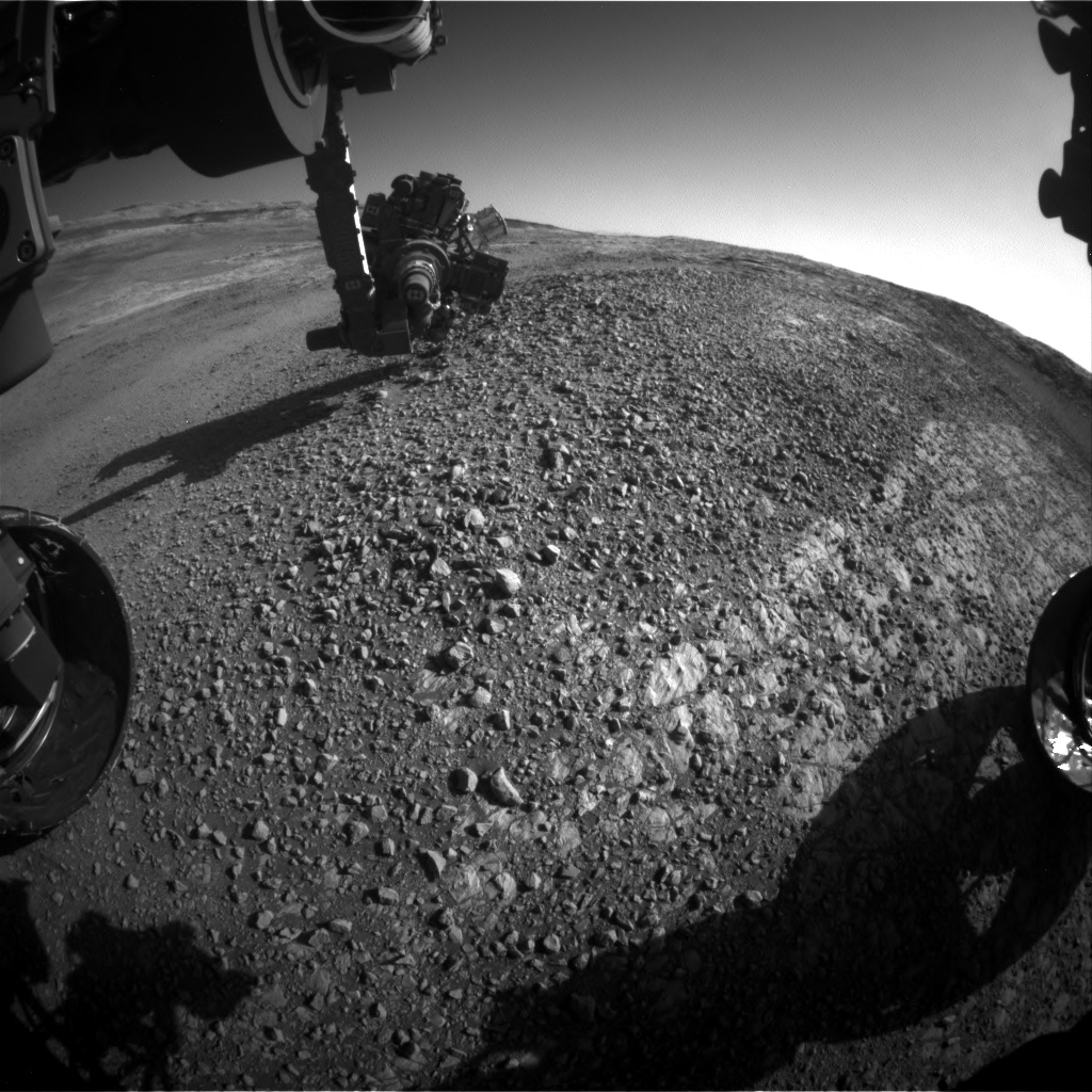 Nasa's Mars rover Curiosity acquired this image using its Front Hazard Avoidance Camera (Front Hazcam) on Sol 1945, at drive 2884, site number 67