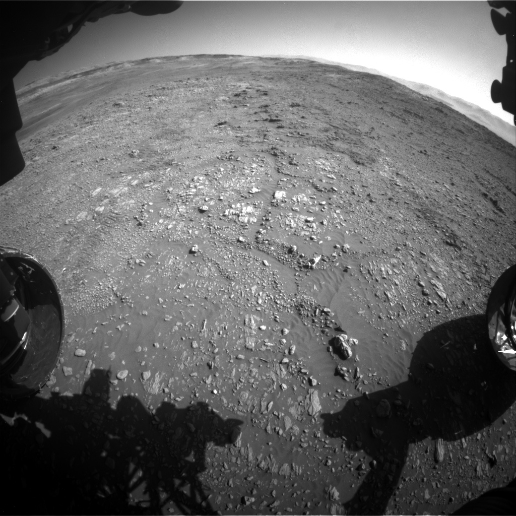 Nasa's Mars rover Curiosity acquired this image using its Front Hazard Avoidance Camera (Front Hazcam) on Sol 1946, at drive 3172, site number 67