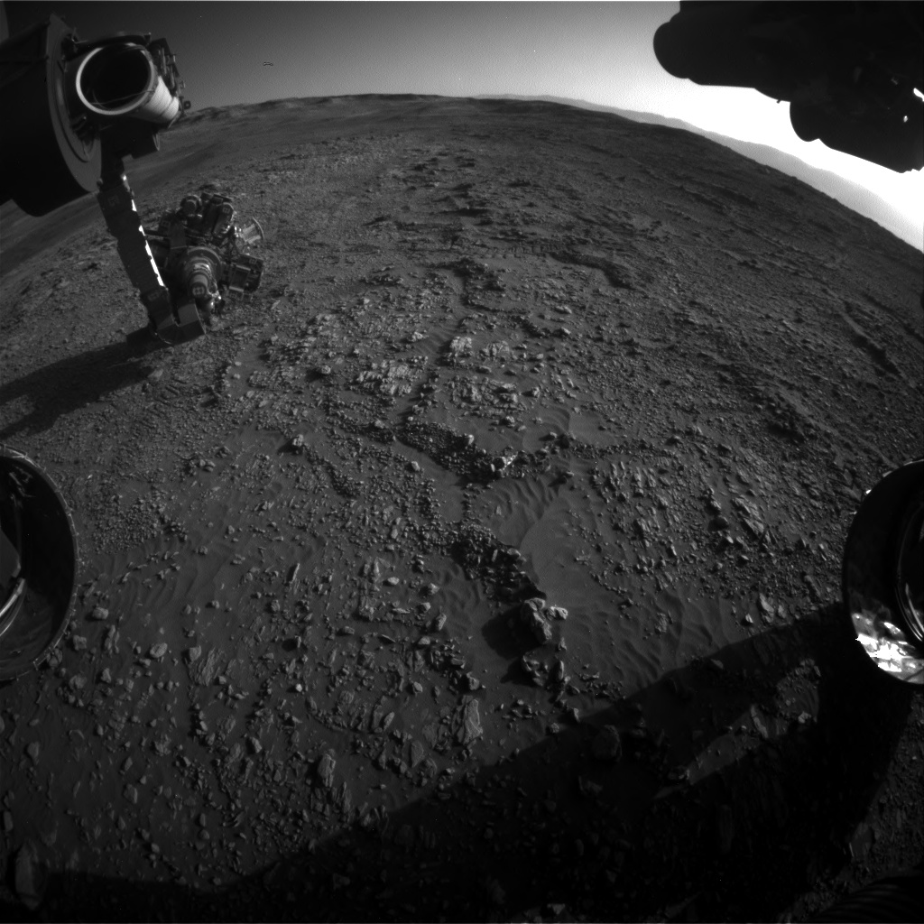 Nasa's Mars rover Curiosity acquired this image using its Front Hazard Avoidance Camera (Front Hazcam) on Sol 1947, at drive 3172, site number 67