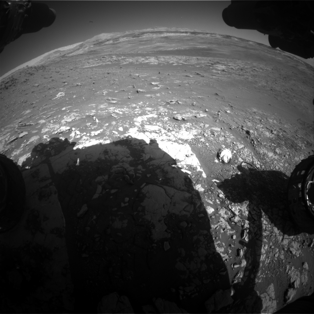 Nasa's Mars rover Curiosity acquired this image using its Front Hazard Avoidance Camera (Front Hazcam) on Sol 1949, at drive 0, site number 68