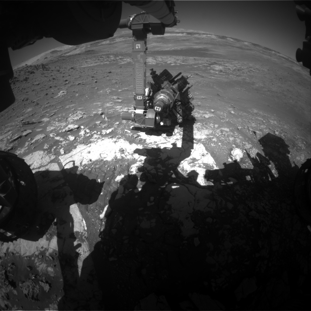 Nasa's Mars rover Curiosity acquired this image using its Front Hazard Avoidance Camera (Front Hazcam) on Sol 1950, at drive 0, site number 68