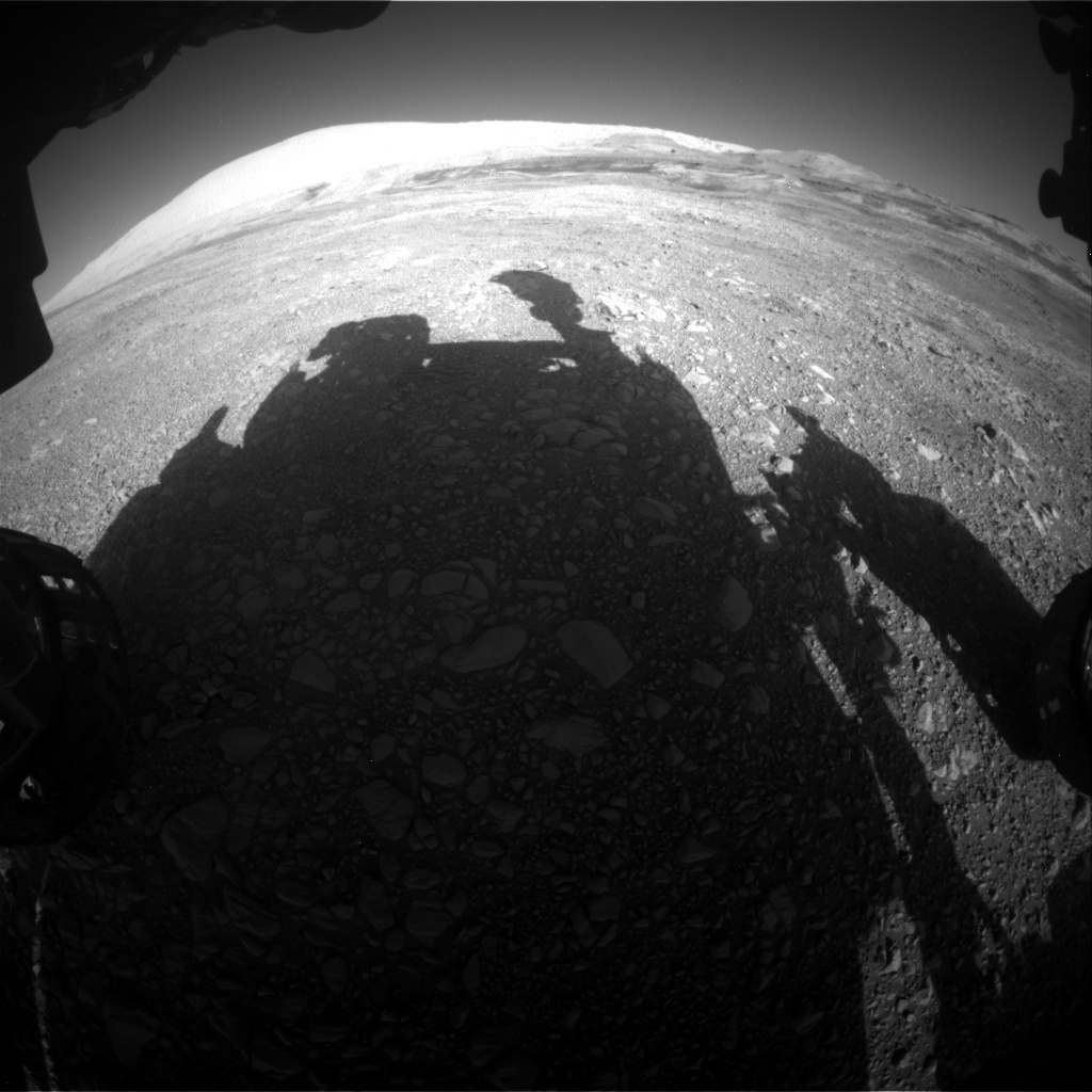 NASA's Mars rover Curiosity acquired this image using its Front Hazard Avoidance Cameras (Front Hazcams) on Sol 1950
