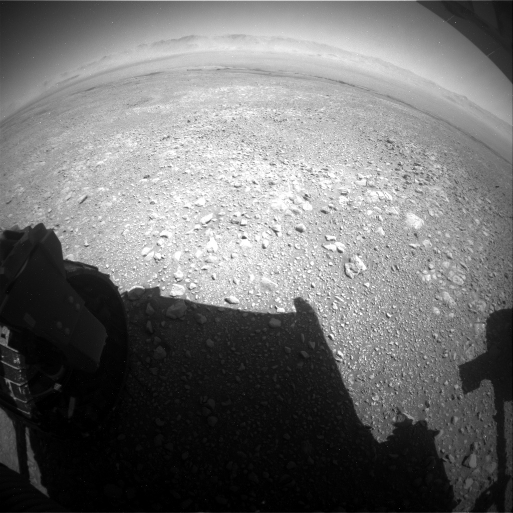 NASA's Mars rover Curiosity acquired this image using its Rear Hazard Avoidance Cameras (Rear Hazcams) on Sol 1951
