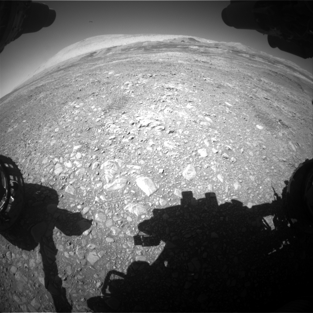 NASA's Mars rover Curiosity acquired this image using its Front Hazard Avoidance Cameras (Front Hazcams) on Sol 1953