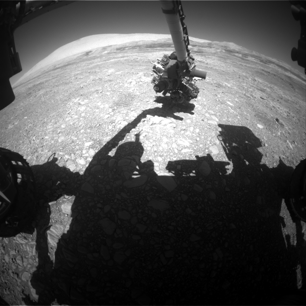 Nasa's Mars rover Curiosity acquired this image using its Front Hazard Avoidance Camera (Front Hazcam) on Sol 1954, at drive 214, site number 68