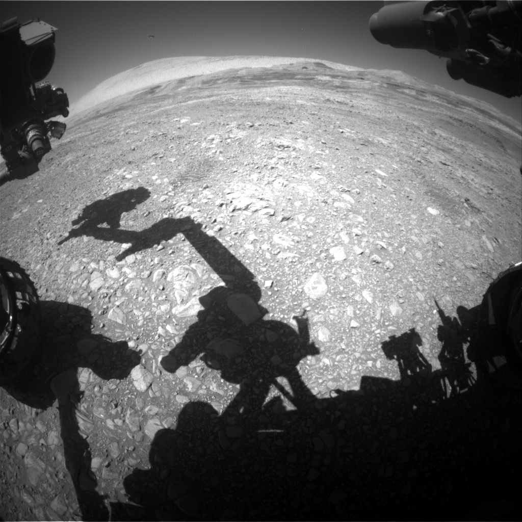 Nasa's Mars rover Curiosity acquired this image using its Front Hazard Avoidance Camera (Front Hazcam) on Sol 1955, at drive 214, site number 68