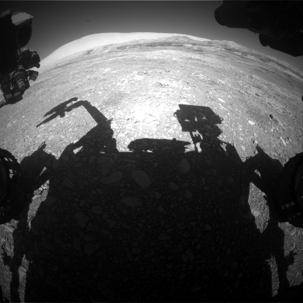 Nasa's Mars rover Curiosity acquired this image using its Front Hazard Avoidance Camera (Front Hazcam) on Sol 1956, at drive 214, site number 68