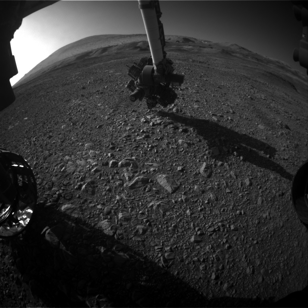 NASA's Mars rover Curiosity acquired this image using its Front Hazard Avoidance Cameras (Front Hazcams) on Sol 1960