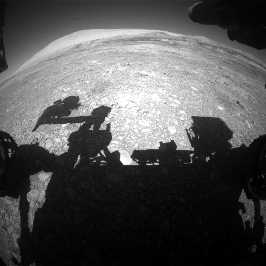 Nasa's Mars rover Curiosity acquired this image using its Front Hazard Avoidance Camera (Front Hazcam) on Sol 1961, at drive 214, site number 68