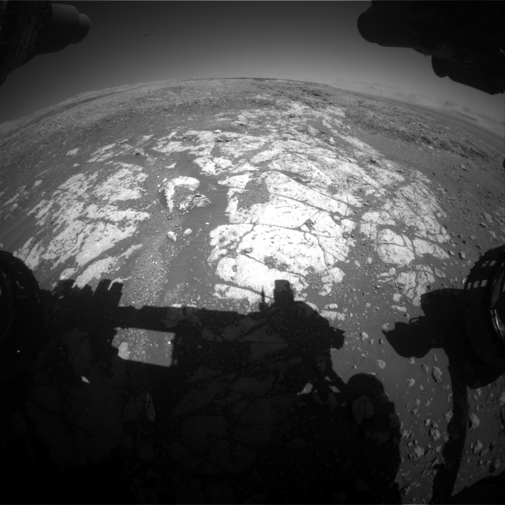 NASA's Mars rover Curiosity acquired this image using its Front Hazard Avoidance Cameras (Front Hazcams) on Sol 1962