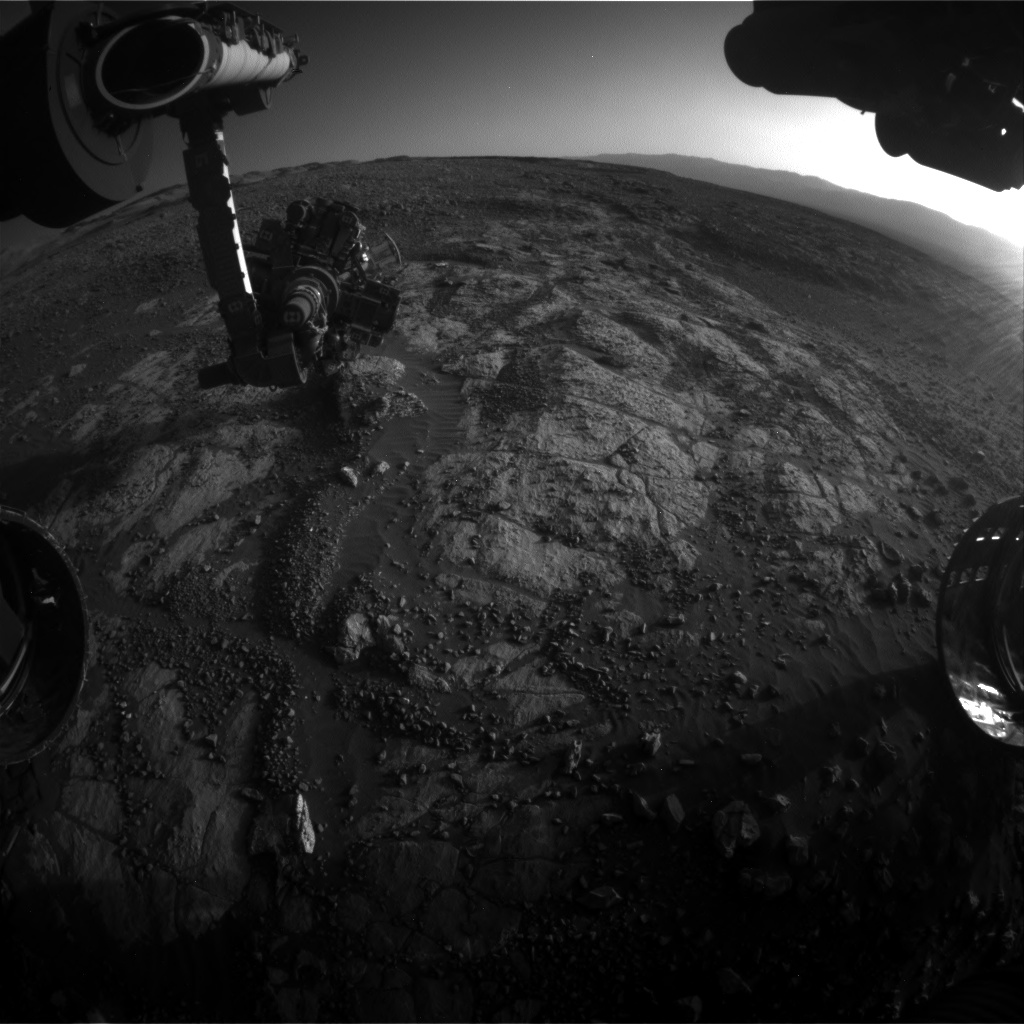 Nasa's Mars rover Curiosity acquired this image using its Front Hazard Avoidance Camera (Front Hazcam) on Sol 1963, at drive 580, site number 68