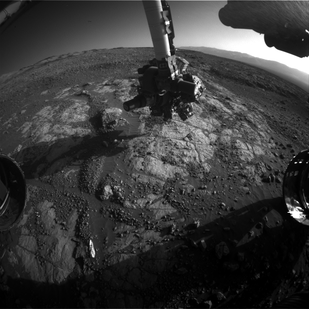 Nasa's Mars rover Curiosity acquired this image using its Front Hazard Avoidance Camera (Front Hazcam) on Sol 1966, at drive 580, site number 68