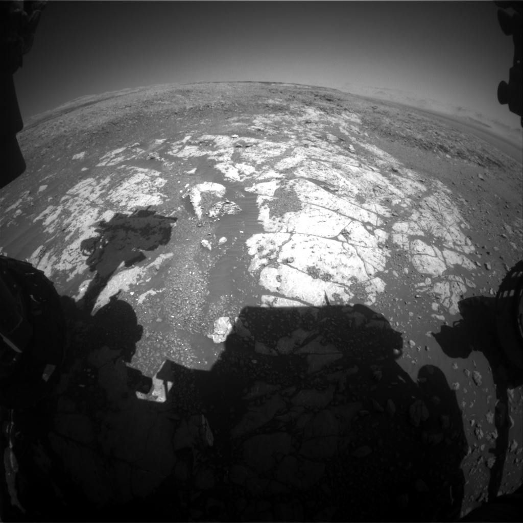 Nasa's Mars rover Curiosity acquired this image using its Front Hazard Avoidance Camera (Front Hazcam) on Sol 1967, at drive 580, site number 68