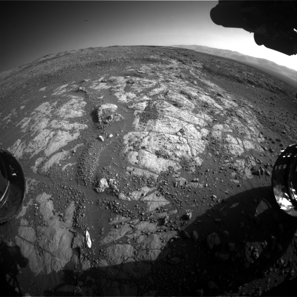 Nasa's Mars rover Curiosity acquired this image using its Front Hazard Avoidance Camera (Front Hazcam) on Sol 1968, at drive 580, site number 68