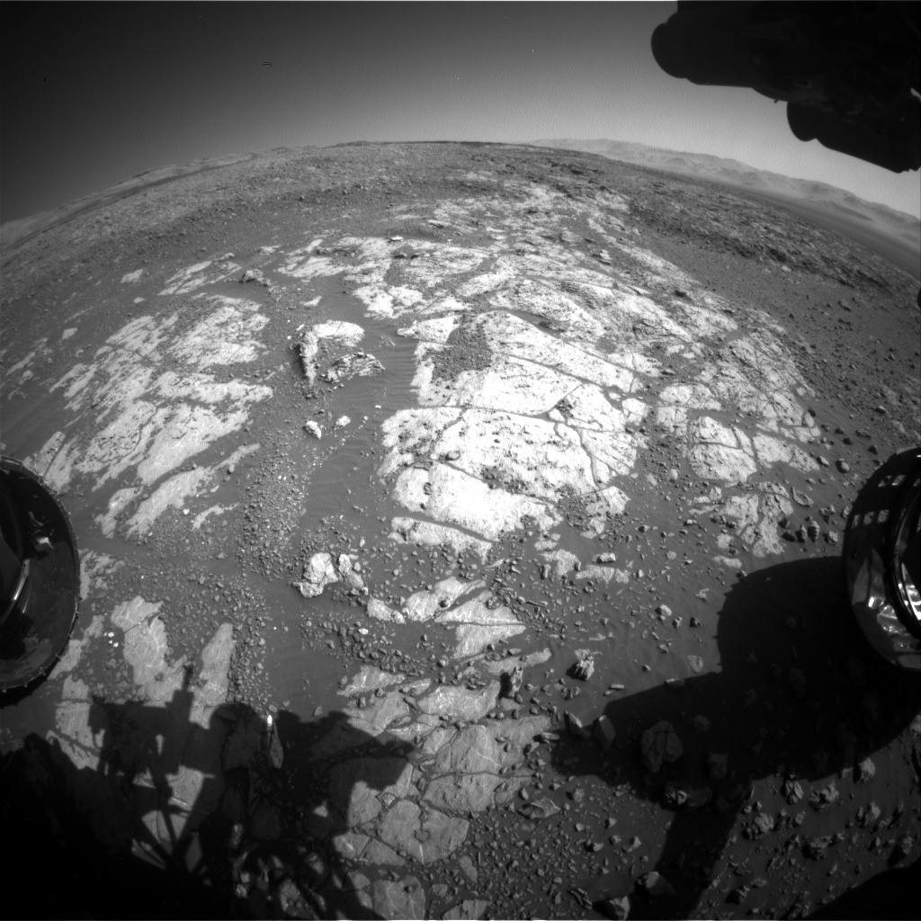 Nasa's Mars rover Curiosity acquired this image using its Front Hazard Avoidance Camera (Front Hazcam) on Sol 1969, at drive 580, site number 68