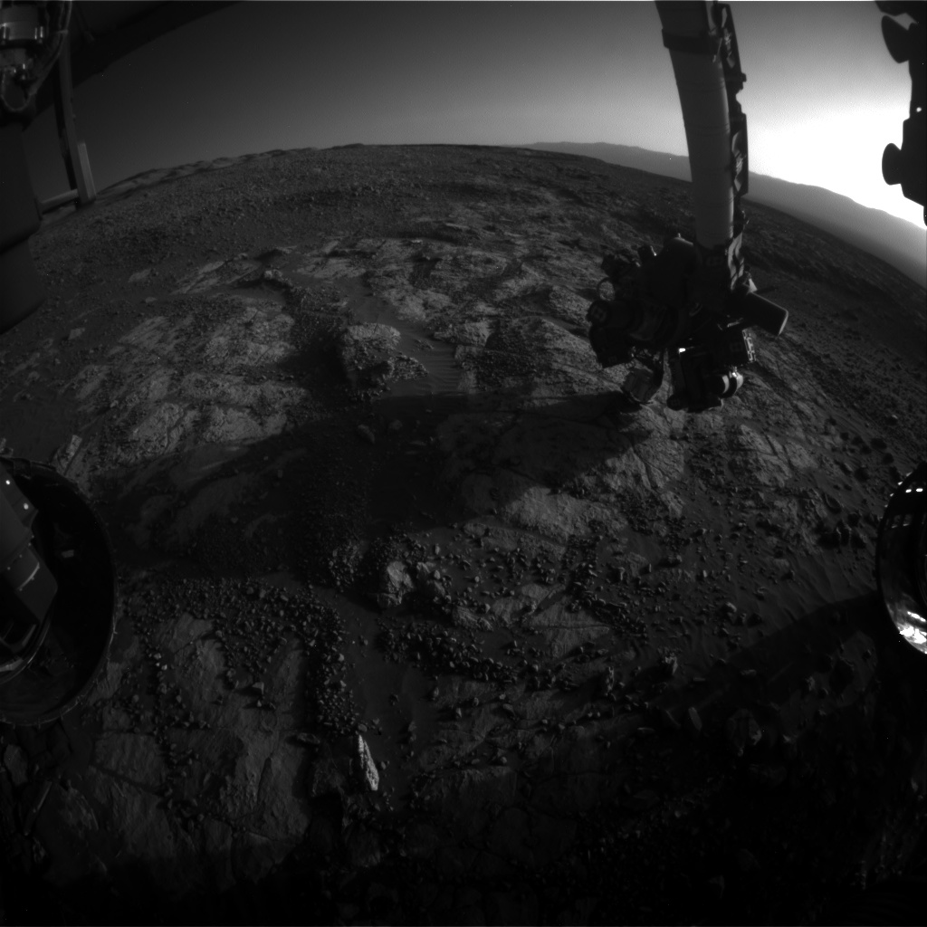 Nasa's Mars rover Curiosity acquired this image using its Front Hazard Avoidance Camera (Front Hazcam) on Sol 1971, at drive 580, site number 68
