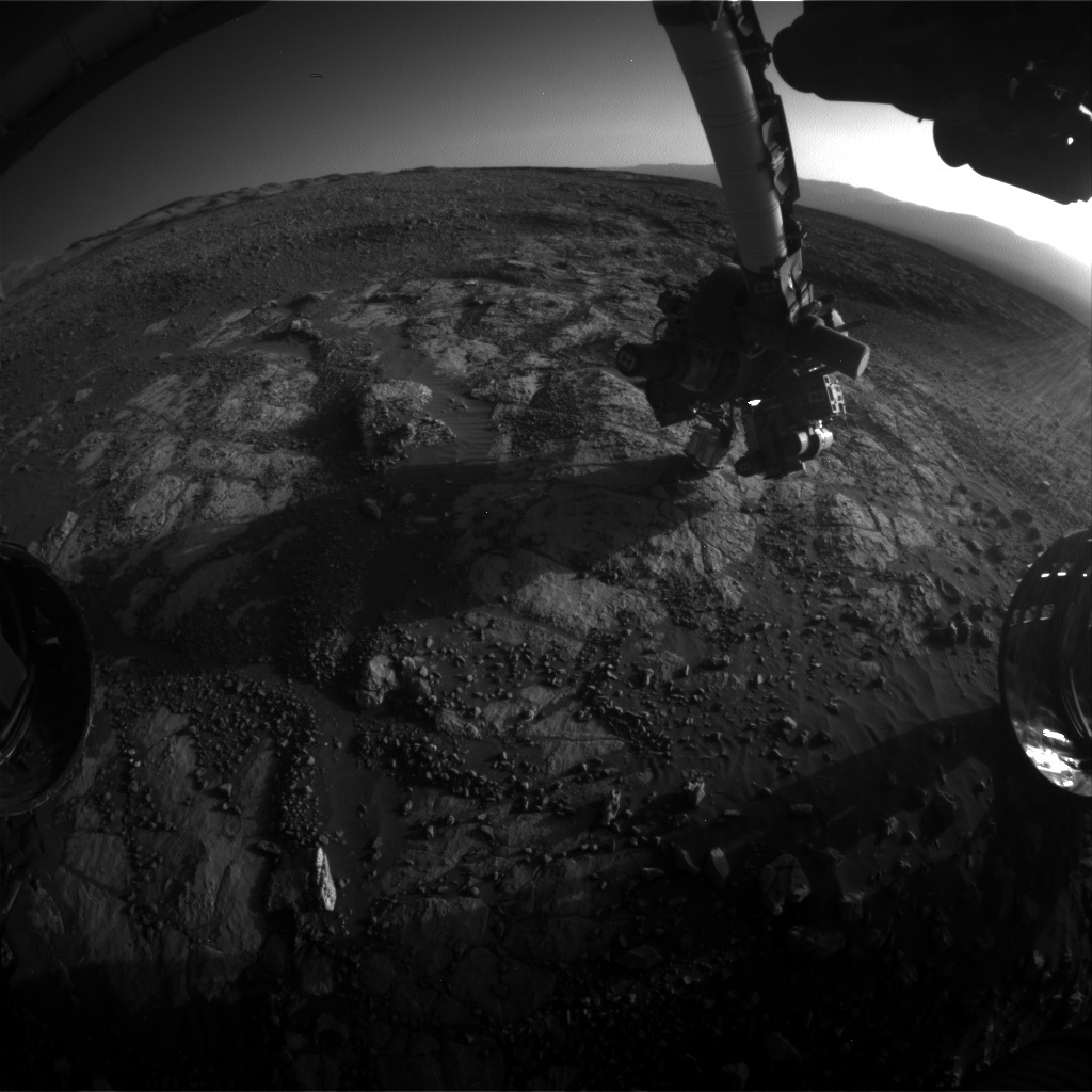 NASA's Mars rover Curiosity acquired this image using its Front Hazard Avoidance Cameras (Front Hazcams) on Sol 1971