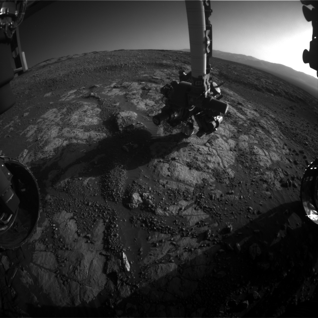 Nasa's Mars rover Curiosity acquired this image using its Front Hazard Avoidance Camera (Front Hazcam) on Sol 1972, at drive 580, site number 68