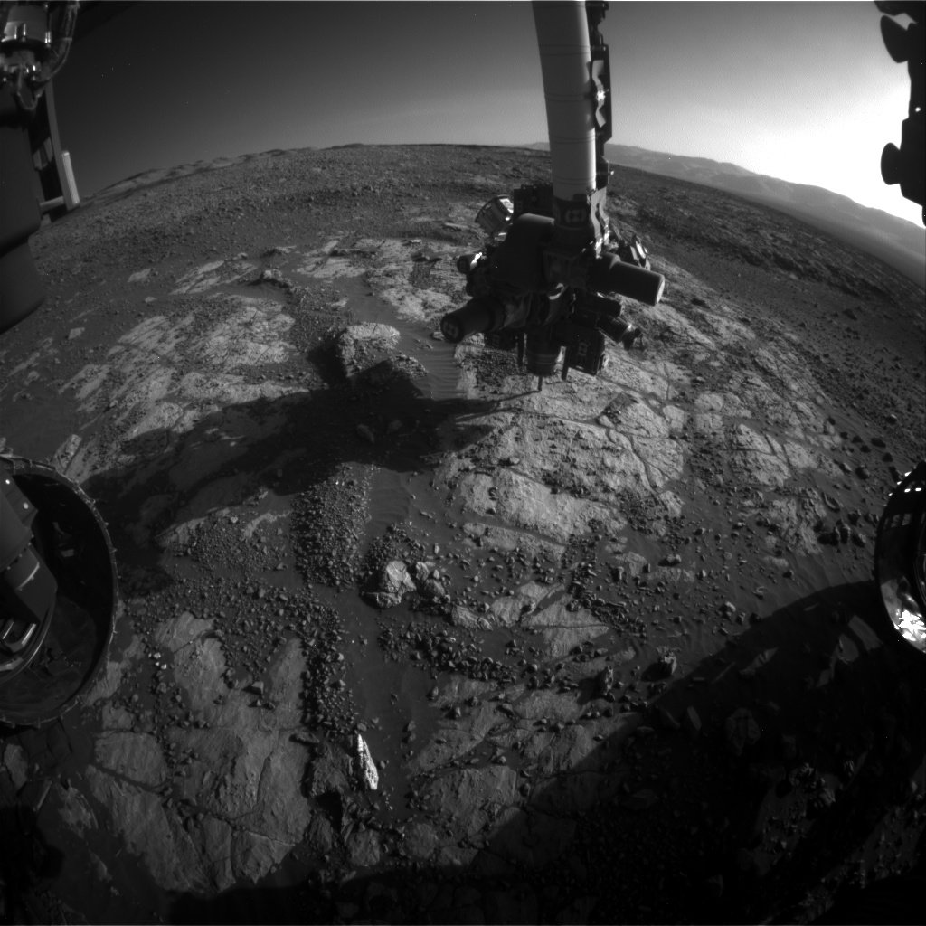 Nasa's Mars rover Curiosity acquired this image using its Front Hazard Avoidance Camera (Front Hazcam) on Sol 1973, at drive 580, site number 68