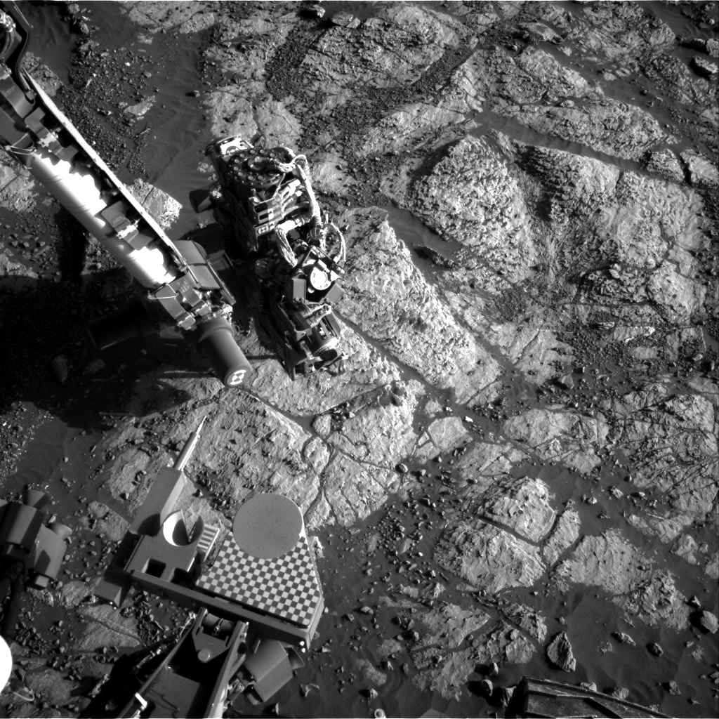 Nasa's Mars rover Curiosity acquired this image using its Right Navigation Camera on Sol 1973, at drive 580, site number 68
