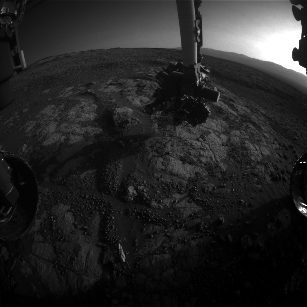 Nasa's Mars rover Curiosity acquired this image using its Front Hazard Avoidance Camera (Front Hazcam) on Sol 1974, at drive 580, site number 68