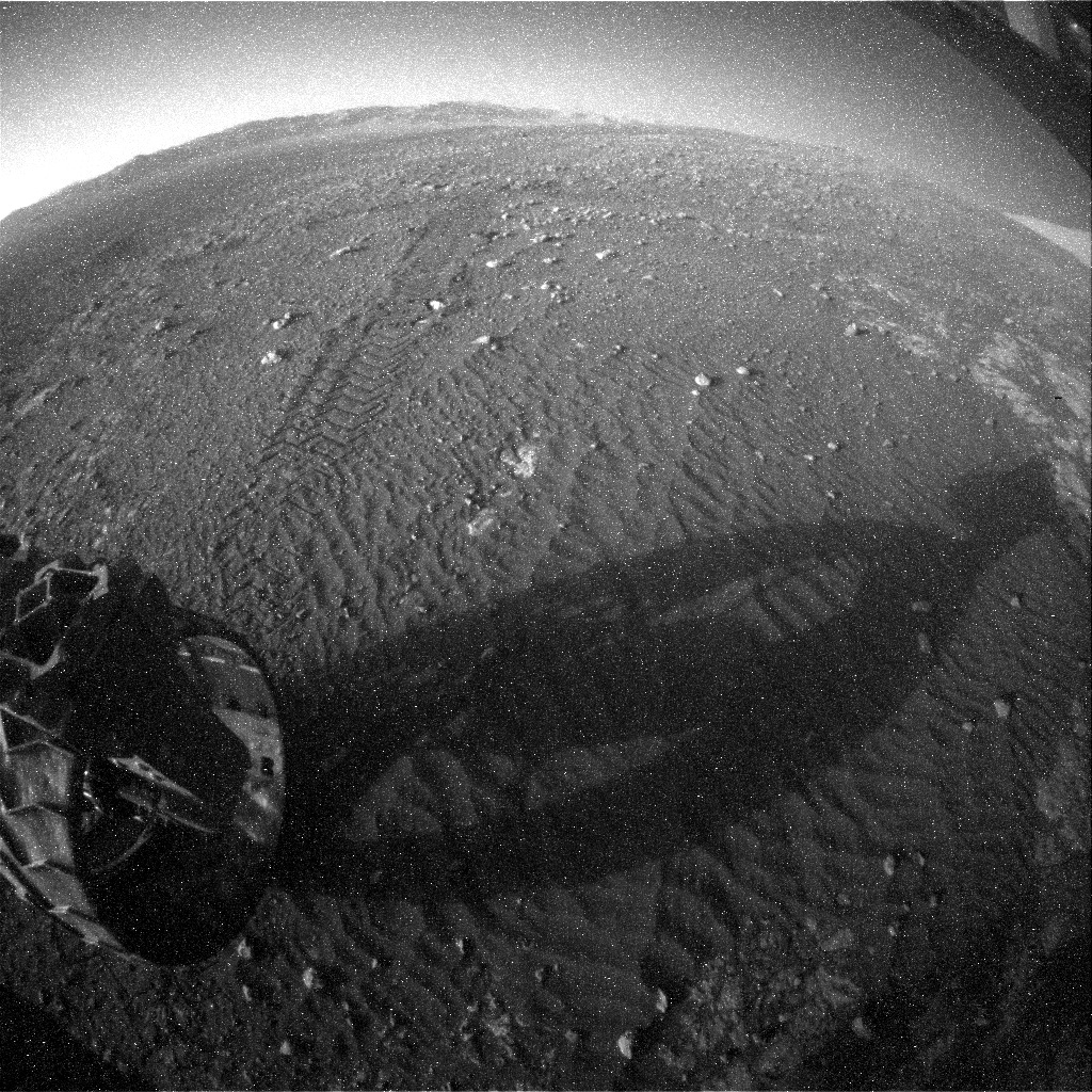 NASA's Mars rover Curiosity acquired this image using its Rear Hazard Avoidance Cameras (Rear Hazcams) on Sol 1974