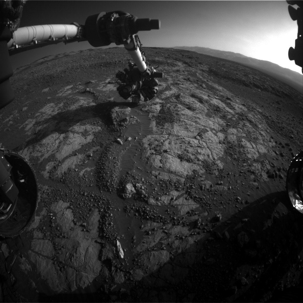 NASA's Mars rover Curiosity acquired this image using its Front Hazard Avoidance Cameras (Front Hazcams) on Sol 1975