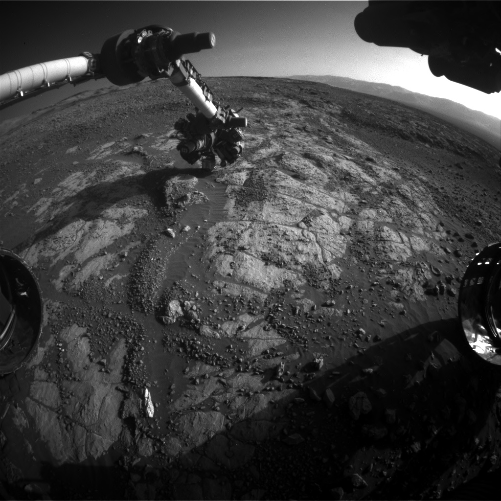 Nasa's Mars rover Curiosity acquired this image using its Front Hazard Avoidance Camera (Front Hazcam) on Sol 1975, at drive 580, site number 68
