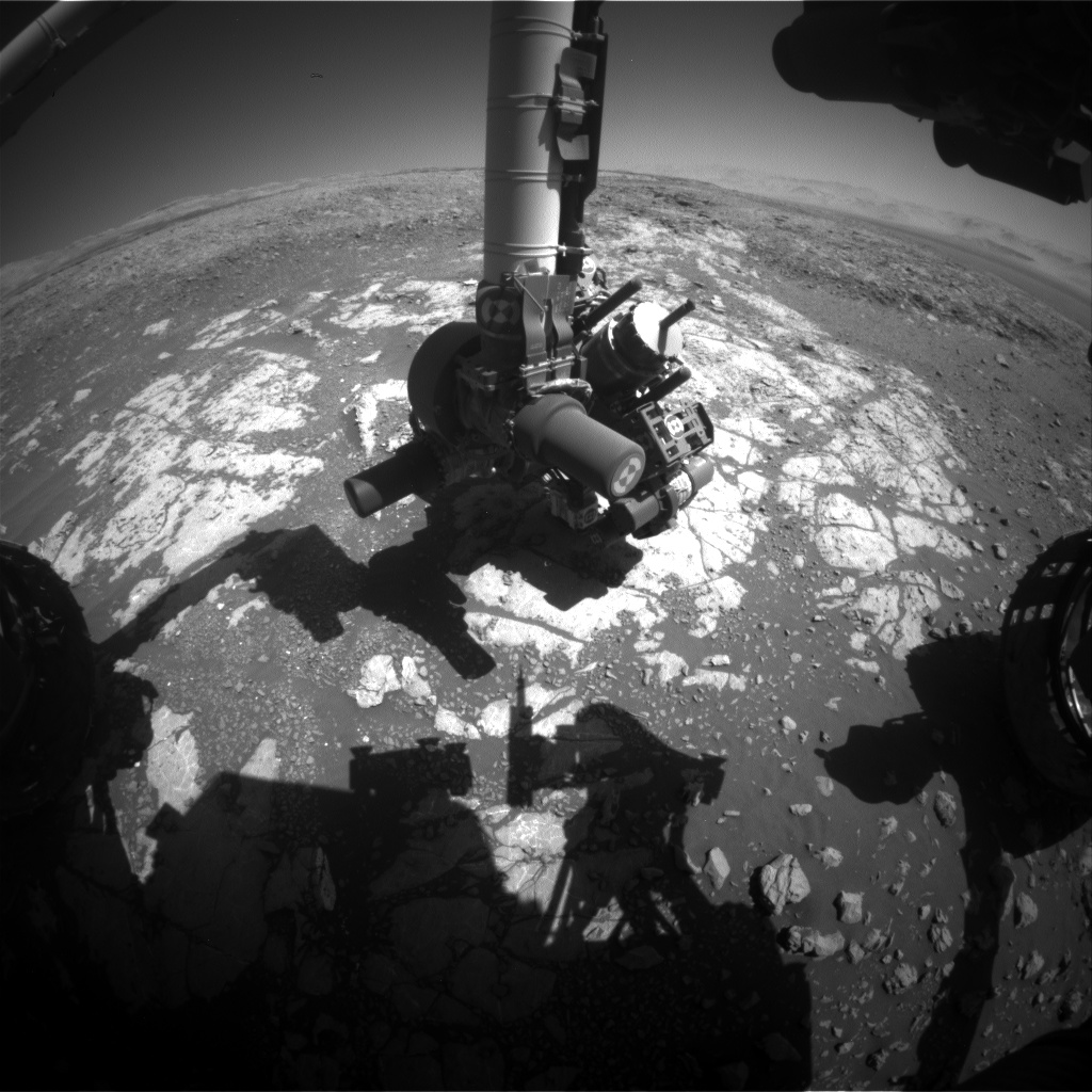 Nasa's Mars rover Curiosity acquired this image using its Front Hazard Avoidance Camera (Front Hazcam) on Sol 1976, at drive 580, site number 68