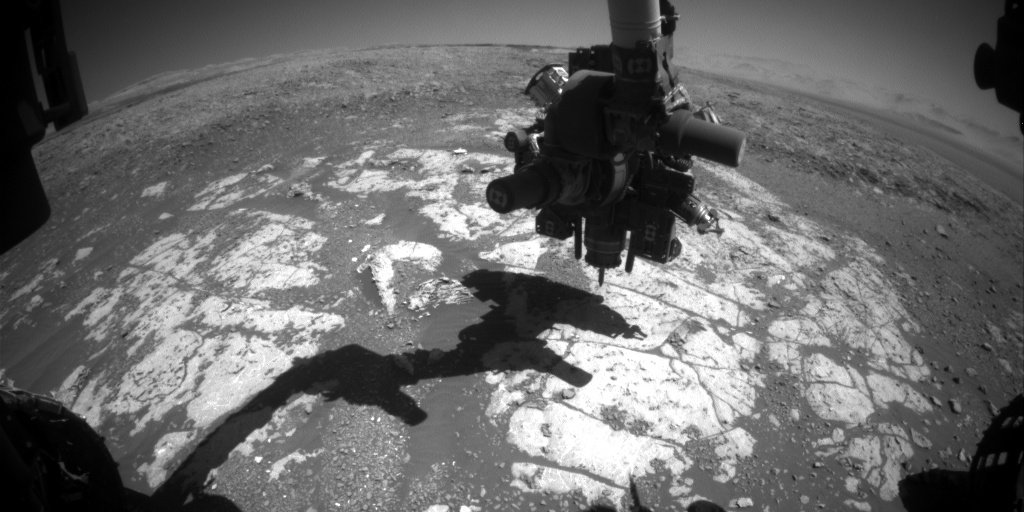 Nasa's Mars rover Curiosity acquired this image using its Front Hazard Avoidance Camera (Front Hazcam) on Sol 1977, at drive 580, site number 68