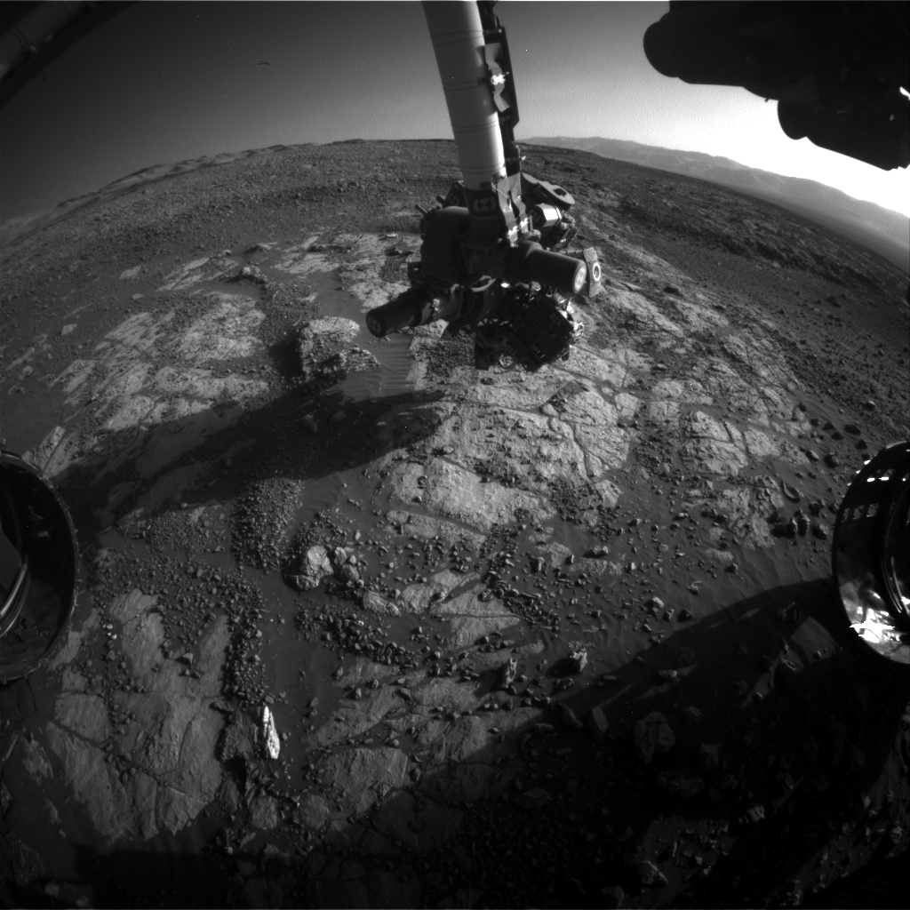 Nasa's Mars rover Curiosity acquired this image using its Front Hazard Avoidance Camera (Front Hazcam) on Sol 1978, at drive 580, site number 68