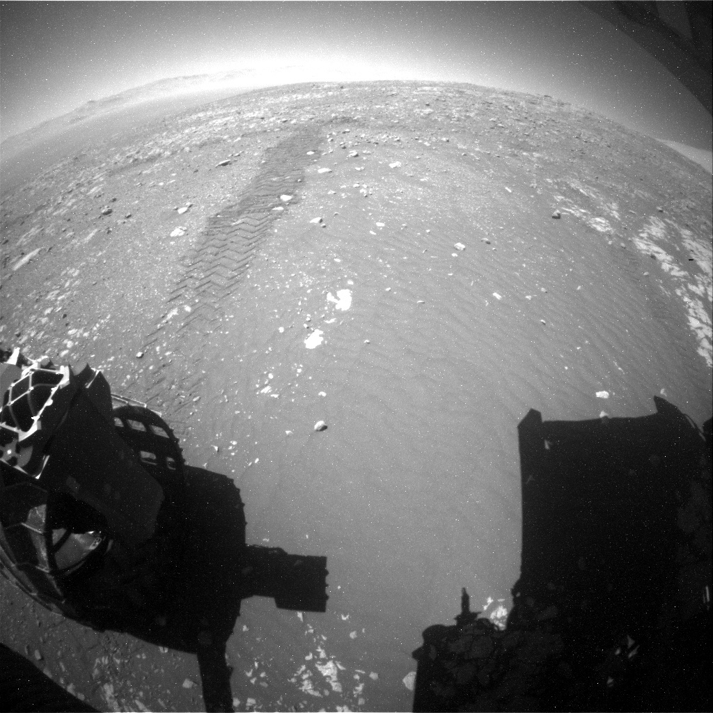 NASA's Mars rover Curiosity acquired this image using its Rear Hazard Avoidance Cameras (Rear Hazcams) on Sol 1978