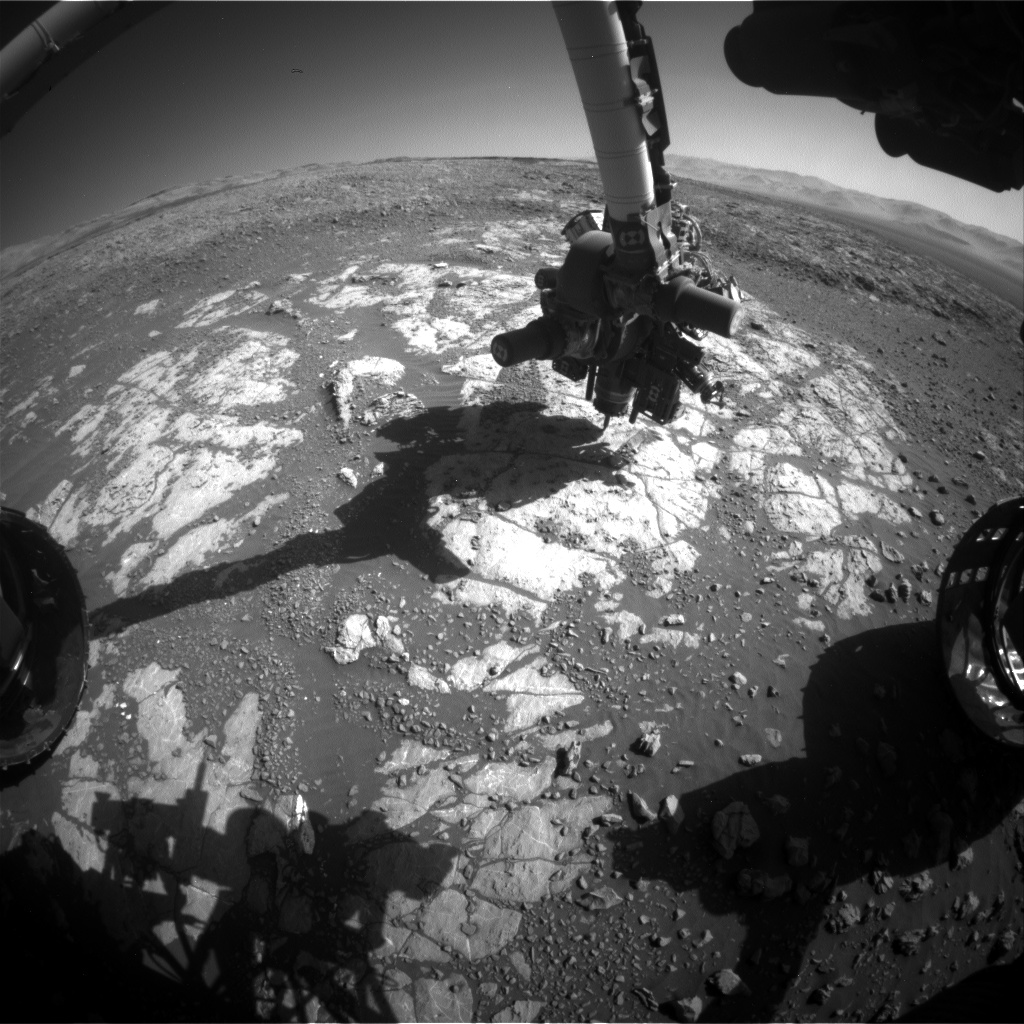 Nasa's Mars rover Curiosity acquired this image using its Front Hazard Avoidance Camera (Front Hazcam) on Sol 1979, at drive 580, site number 68