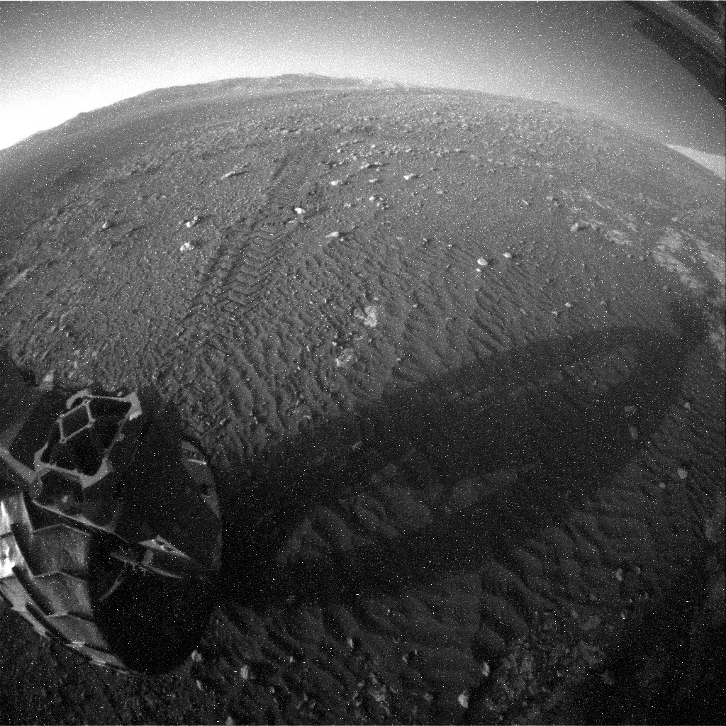 NASA's Mars rover Curiosity acquired this image using its Rear Hazard Avoidance Cameras (Rear Hazcams) on Sol 1979