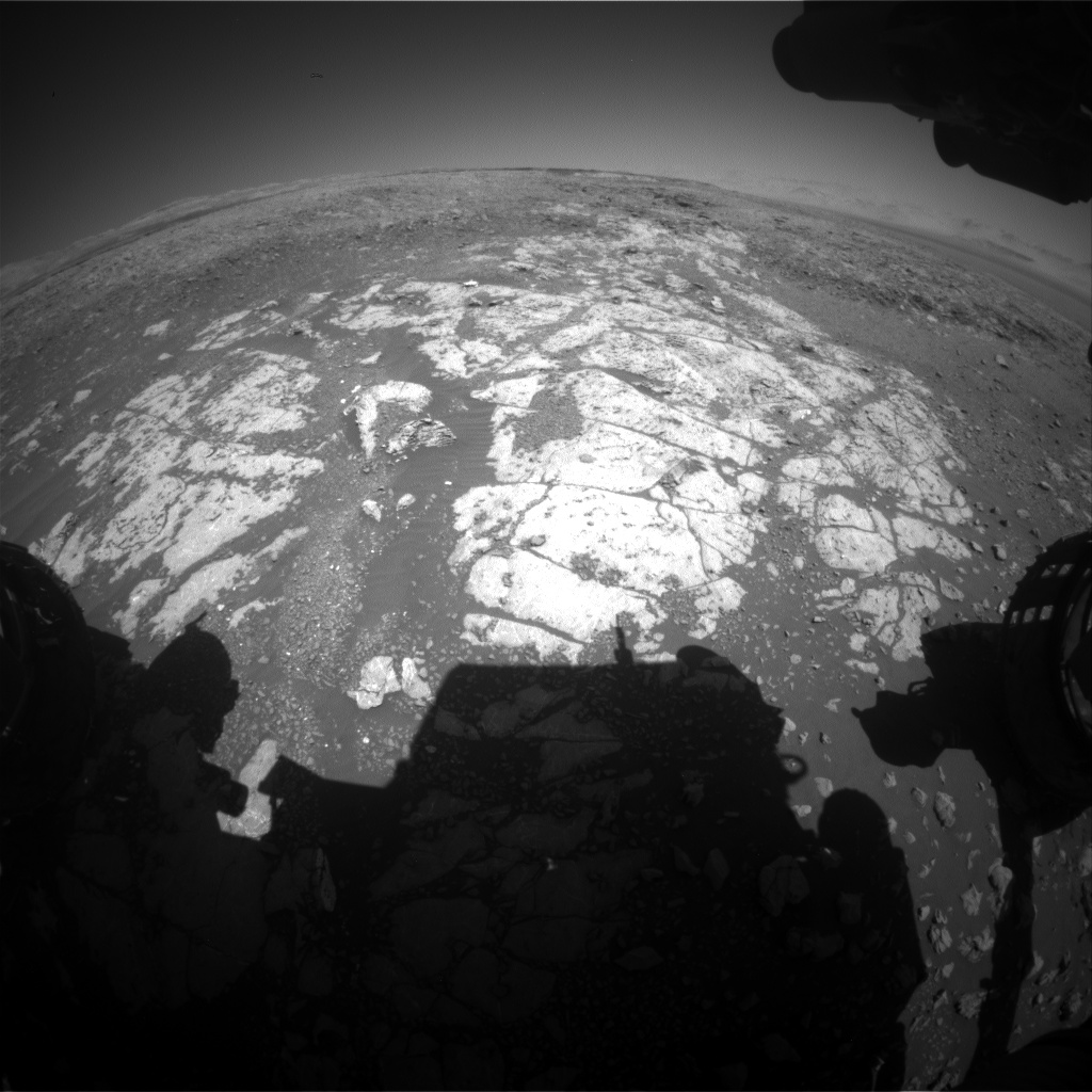 Nasa's Mars rover Curiosity acquired this image using its Front Hazard Avoidance Camera (Front Hazcam) on Sol 1980, at drive 580, site number 68