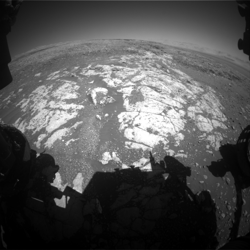 Nasa's Mars rover Curiosity acquired this image using its Front Hazard Avoidance Camera (Front Hazcam) on Sol 1981, at drive 580, site number 68