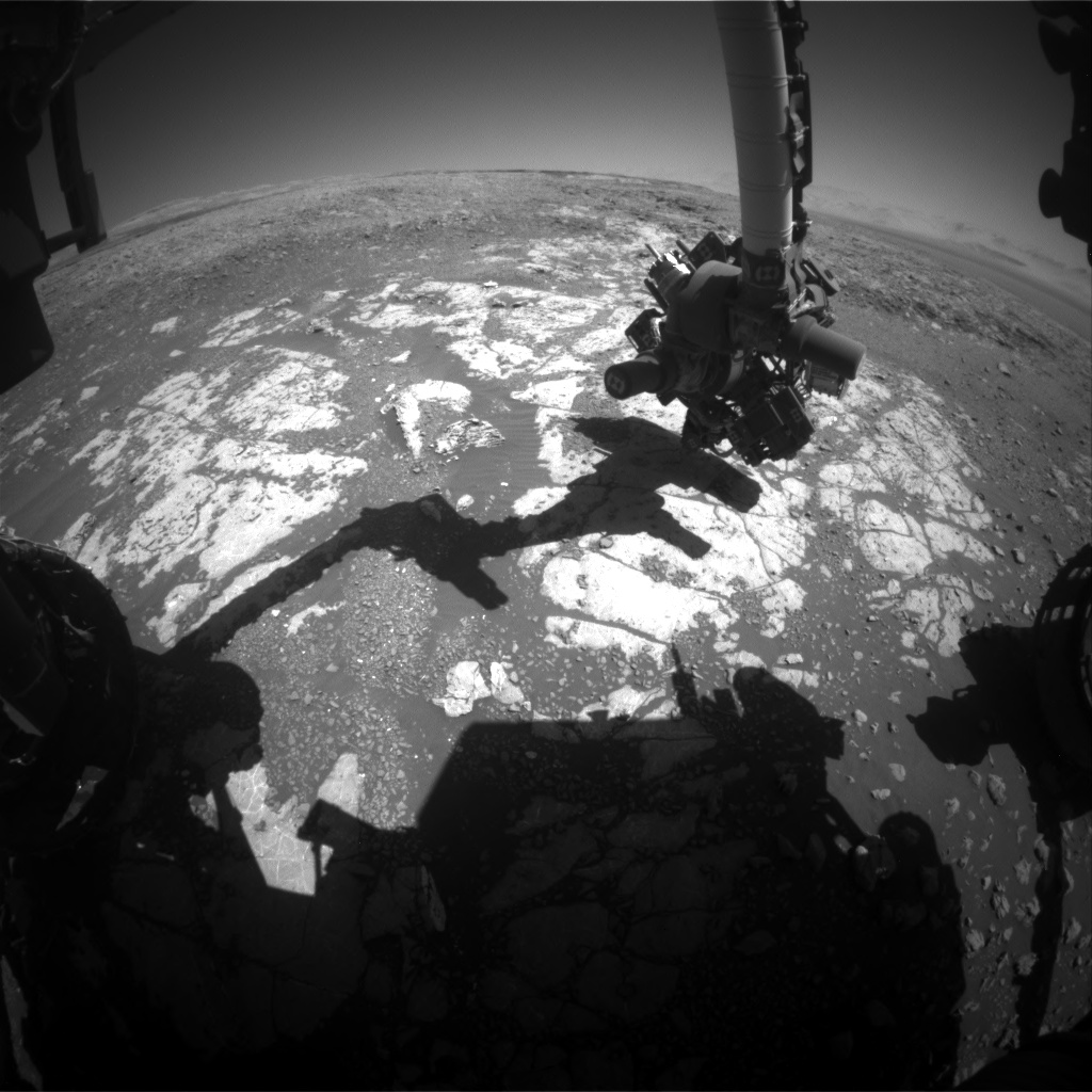 Nasa's Mars rover Curiosity acquired this image using its Front Hazard Avoidance Camera (Front Hazcam) on Sol 1982, at drive 580, site number 68